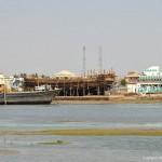shipyard and Sea at mandvi